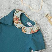 Работы для детей, ручной работы. Ярмарка Мастеров - ручная работа Льняное платье в стиле 60-х. Handmade.
