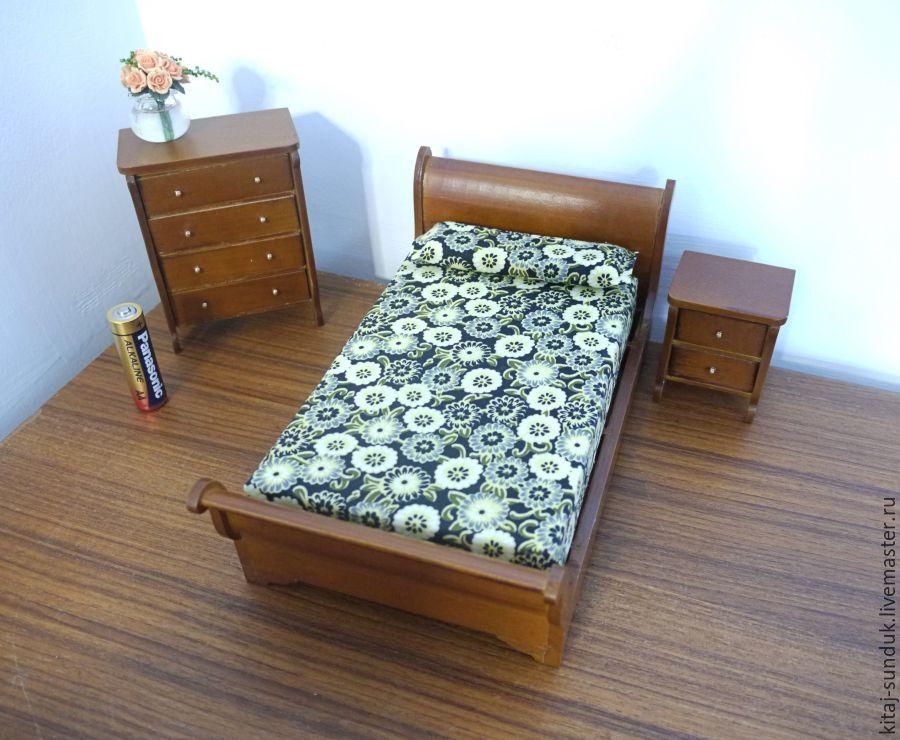 Bedroom Set 3 Pcs. Scale 1:12, Miniature figurines, Novosibirsk,  Фото №1