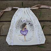 Для дома и интерьера ручной работы. Ярмарка Мастеров - ручная работа Трикотажный мешочек для белья (повтор). Handmade.