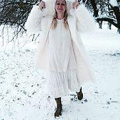 Одежда ручной работы. Ярмарка Мастеров - ручная работа Шуба из экомеха под белую ламу. Handmade.