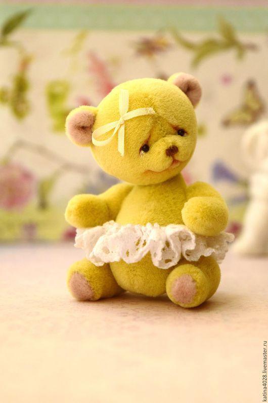Мишки Тедди ручной работы. Ярмарка Мастеров - ручная работа. Купить Мишка Оля. Handmade. Лимонный, миниатюра, teddy