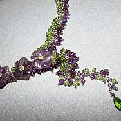"""Украшения ручной работы. Ярмарка Мастеров - ручная работа Колье """"Хризолитовые Травы"""". Handmade."""
