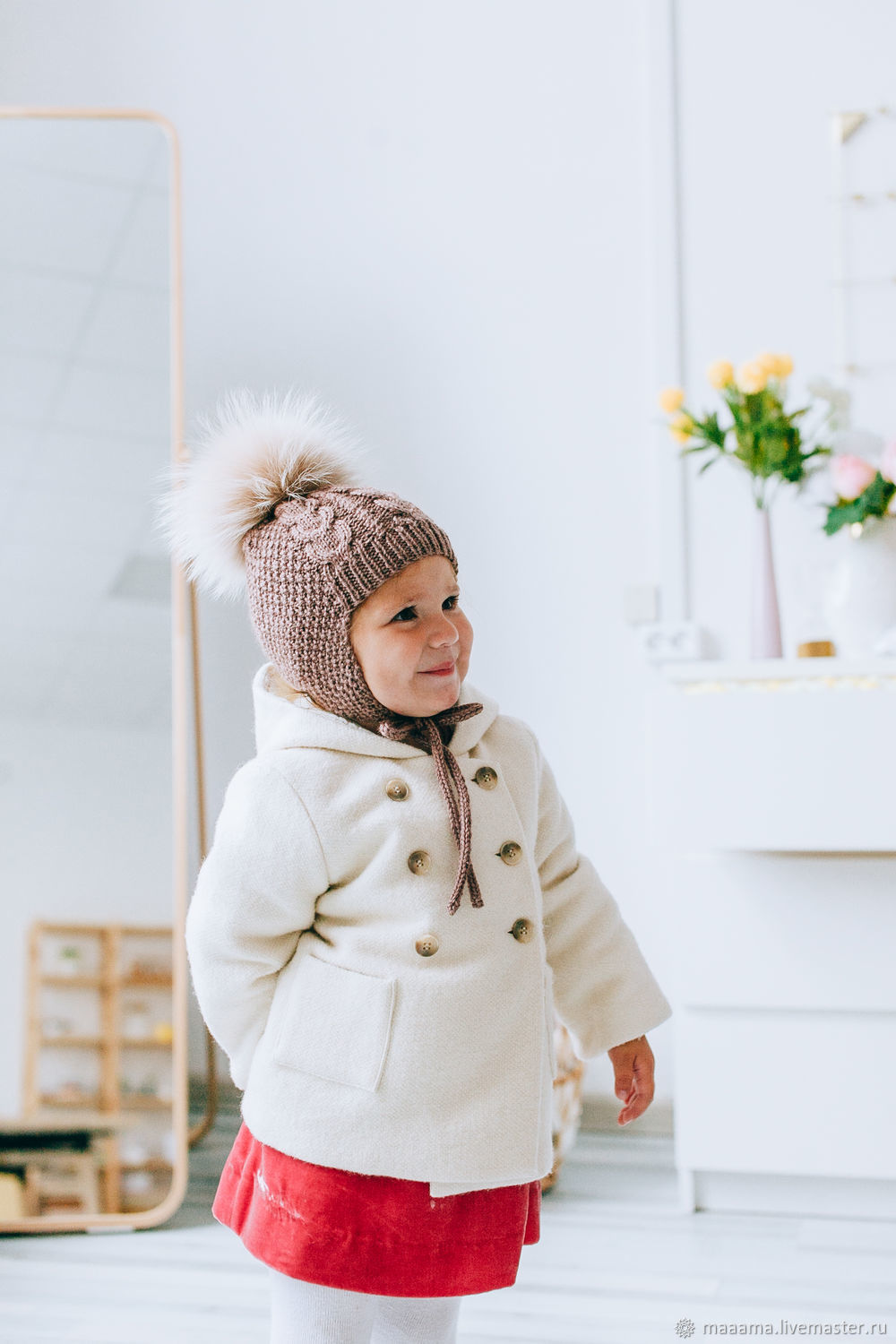 Children's hat hand knitted Merino (available and to order), Caps, St. Petersburg,  Фото №1