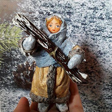 """Сувениры и подарки ручной работы. Ярмарка Мастеров - ручная работа Ватная игрушка """"За хворостом"""", 11 см.. Handmade."""