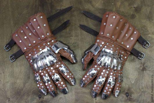 Ролевые игры ручной работы. Ярмарка Мастеров - ручная работа. Купить Перчатки Визби тип 3. Handmade. Доспех, перчатки
