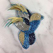 Украшения ручной работы. Ярмарка Мастеров - ручная работа Брошь синяя птичка. Handmade.