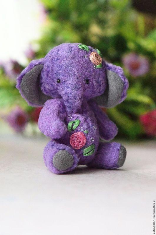 Мишки Тедди ручной работы. Ярмарка Мастеров - ручная работа. Купить Цветочек. Handmade. Сиреневый, подарок, elephant, металлический гранулят
