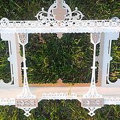 Для дома и интерьера ручной работы. Ярмарка Мастеров - ручная работа Полка- рама под зеркало или фото. Handmade.