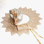 Аксессуары handmade. Livemaster - original item Lace collar crochet No. №42 beige. Handmade.