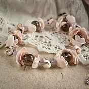 Украшения ручной работы. Ярмарка Мастеров - ручная работа Бусы из натуральных камней Таинственные цветы. Handmade.