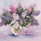 Картины и панно handmade. Livemaster - original item Painting Lilac Bouquet Lilac oil painting. Handmade.