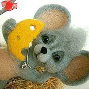 Мягкие игрушки ручной работы. Ярмарка Мастеров - ручная работа мышка МУСЯ. Handmade.