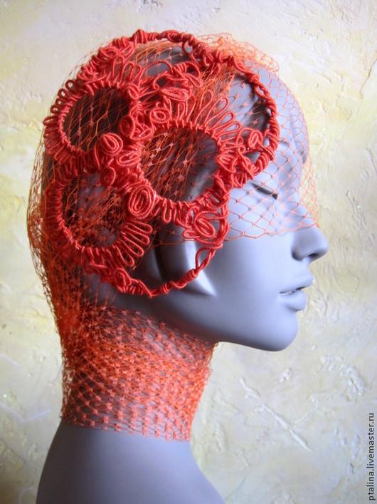 """Шляпы ручной работы. Ярмарка Мастеров - ручная работа. Купить авторская шляпка цвета"""" красный апельсин """""""". Handmade. Шляпка"""