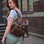 Сумки и аксессуары handmade. Livemaster - original item Womens backpack leather tan Bondy Mod P52 -722. Handmade.