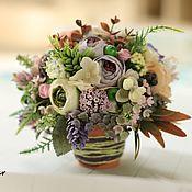 """Цветы и флористика ручной работы. Ярмарка Мастеров - ручная работа цветочный мини-декор """"Привет, Весна!"""". Handmade."""