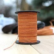 Материалы для творчества handmade. Livemaster - original item Leather cord 1 mm. Handmade.