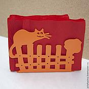 Для дома и интерьера ручной работы. Ярмарка Мастеров - ручная работа кот на заборе. Handmade.