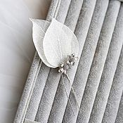 Украшения handmade. Livemaster - original item Hairpin with leaves and flowers in silver, jewelry in her hair. Handmade.