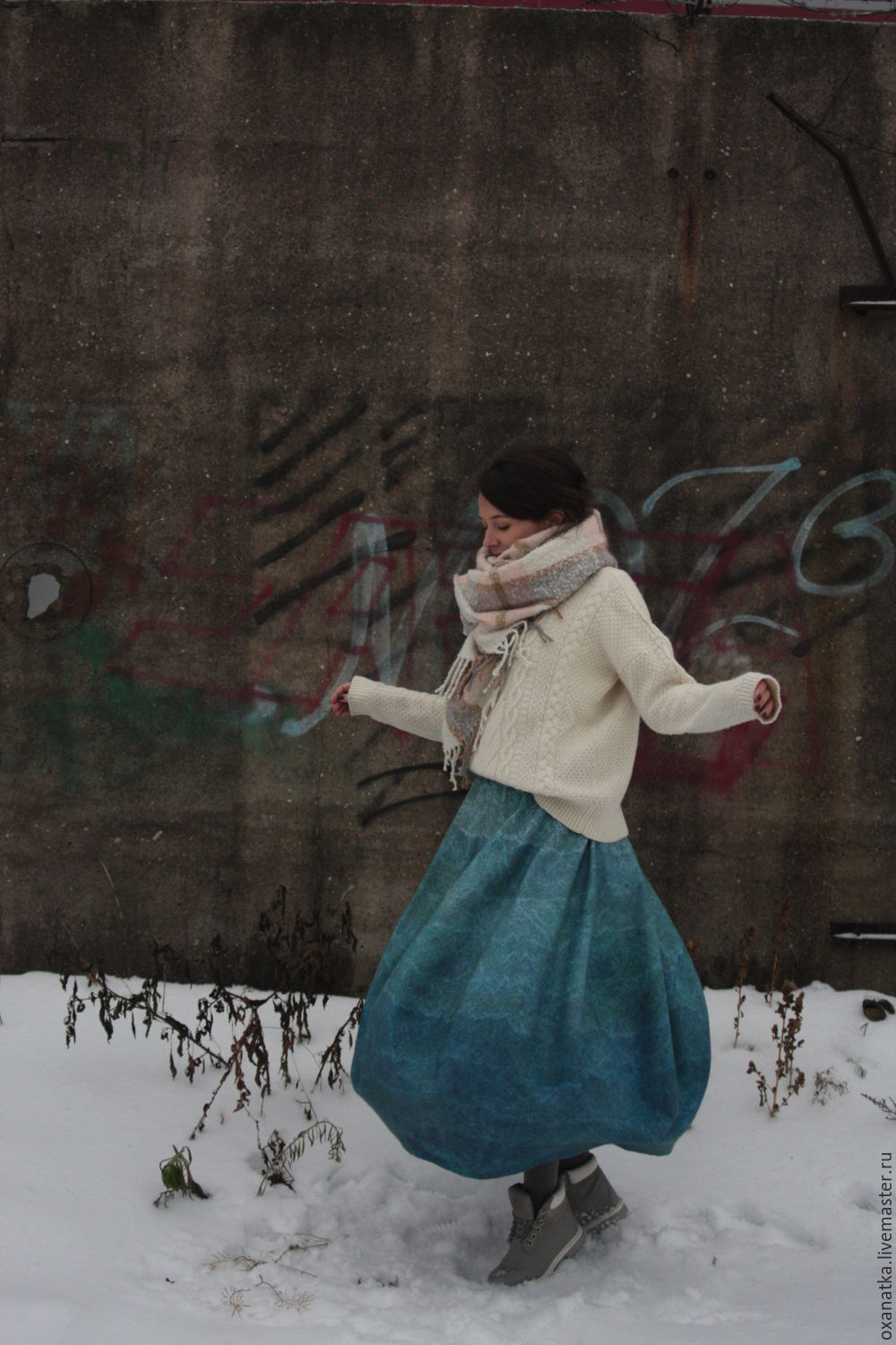 felted skirt on the waves, Skirts, Moscow,  Фото №1