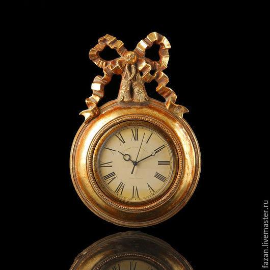 настенные часы золотой бант
