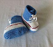 Работы для детей, ручной работы. Ярмарка Мастеров - ручная работа Пинетки - ботиночки. Handmade.