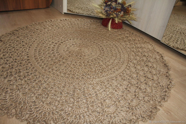 Jute carpet round 120 cm, Carpets, Kaluga,  Фото №1