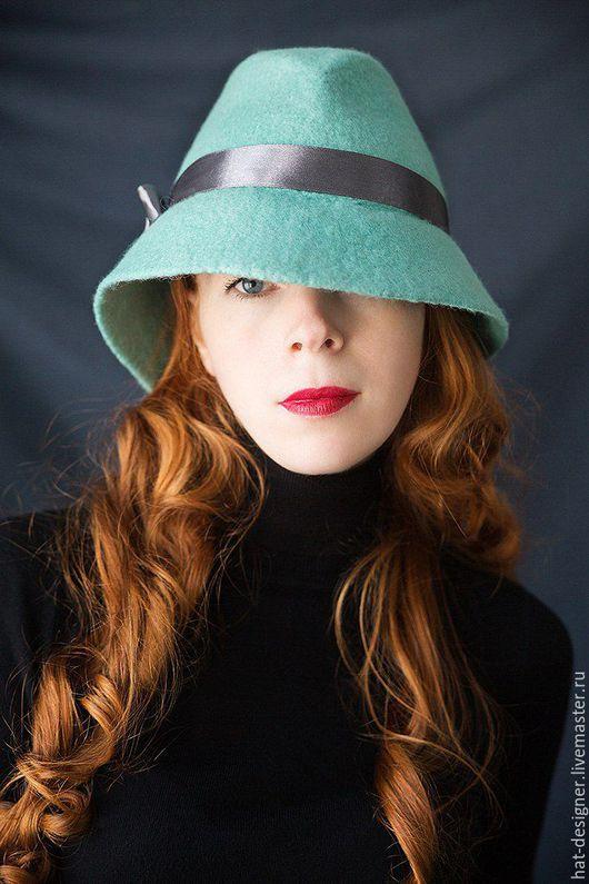 """Шляпы ручной работы. Ярмарка Мастеров - ручная работа. Купить Шляпа Женская """"Бостон"""". Handmade. Мятный, шляпа колокольчик"""
