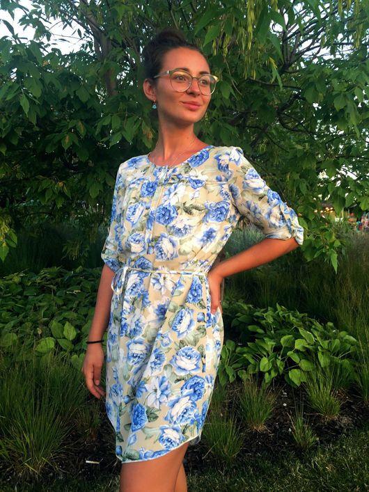 """Платья ручной работы. Ярмарка Мастеров - ручная работа. Купить Платье """"Азалия"""". Handmade. Цветочное платье, короткое платье, цветы"""