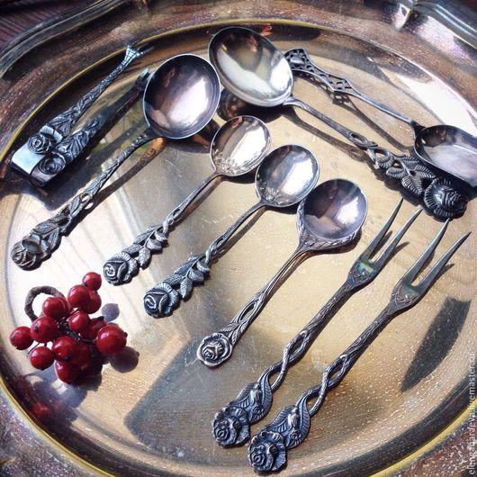Винтажная посуда. Ярмарка Мастеров - ручная работа. Купить Ложка щипцы вилки  для сахара джема лимона - Хильдесхаймская роза. Handmade.