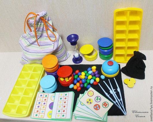 """Развивающие игрушки ручной работы. Ярмарка Мастеров - ручная работа. Купить Развивающий игровой набор """"Собери радугу"""". Handmade. Разноцветный"""
