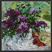 Картины и панно handmade. Livemaster - original item Lilacs still life impasto painting. Handmade.