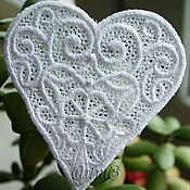 Материалы для творчества handmade. Livemaster - original item Embroidery applique heart patch termo FSL free. Handmade.