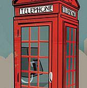 Телефонная будка (DFS211L) - 24х60 рисовая бумага