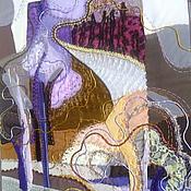 """Картины и панно ручной работы. Ярмарка Мастеров - ручная работа Панно """"Дорога уходит в даль"""". Handmade."""