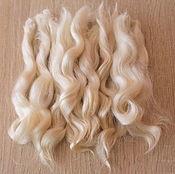 Материалы для творчества handmade. Livemaster - original item Hair for dolls 15-17 cm(white, natural, washed) Locks for dolls. Handmade.