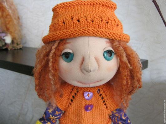 Коллекционные куклы ручной работы. Ярмарка Мастеров - ручная работа. Купить Кукла текстильная Анютка. Handmade. Рыжий, ткань