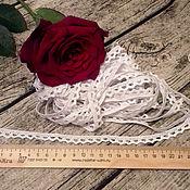 Кружево ручной работы. Ярмарка Мастеров - ручная работа Мерное кружево из хлопка цвет белый 1 см. Handmade.