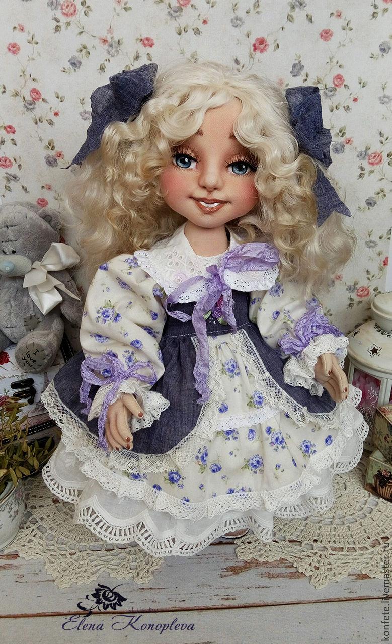 doll textile. Angelica doll interior with an oversized face, Dolls, Nizhny Novgorod,  Фото №1