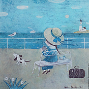 Картины и панно ручной работы. Ярмарка Мастеров - ручная работа Прощание с морем. Handmade.
