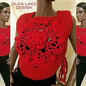 Одежда handmade. Livemaster - original item Knitted vest from Olga Lace. Handmade.