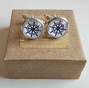 Украшения handmade. Livemaster - original item Cufflinks silver steering Wheel. Handmade.