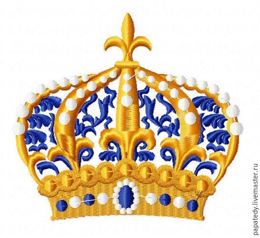 Корона для машинной вышивки