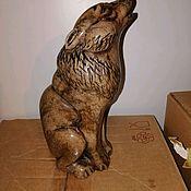 Для дома и интерьера handmade. Livemaster - original item Sculpture of natural stone Wolf. Handmade.