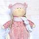 Коллекционные куклы ручной работы. Ярмарка Мастеров - ручная работа. Купить Кукла Лизонька в розовом платье. Handmade. Розовый