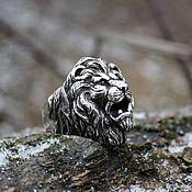 Украшения handmade. Livemaster - original item Men`s lion ring 925 silver. Handmade.