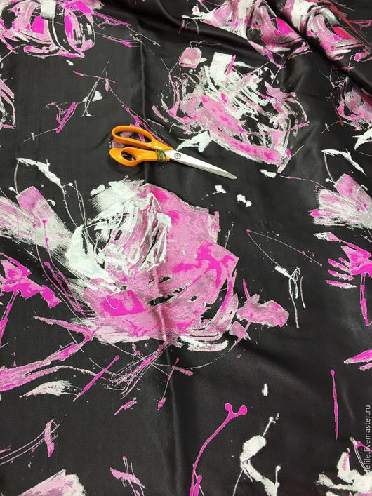 Шитье ручной работы. Ярмарка Мастеров - ручная работа. Купить Тафтовый шелк с люрексом серебр.. Handmade. Черный, итальянские ткани