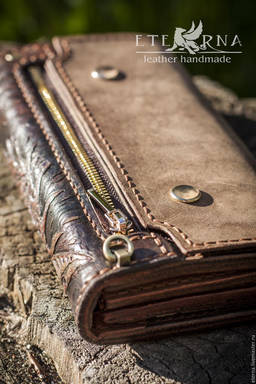 dfd6d70292ef Натуральная кожа · Кошельки и визитницы ручной работы. Заказать Кошелек,  клатч ручной работы с тиснением.