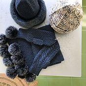 Шапки ручной работы. Ярмарка Мастеров - ручная работа Шапка и шапка с шарфом и варежками. Handmade.