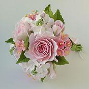 """Свадебный салон ручной работы. Ярмарка Мастеров - ручная работа Мини-букет в руку """"Розовая мечта"""". Handmade."""