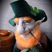 """Куклы и игрушки ручной работы. Ярмарка Мастеров - ручная работа """"Лепрекон""""(2)- авторская текстильная кукла. Handmade."""